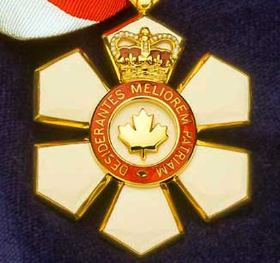 Dr David Dolphin's Order of Canada Medal